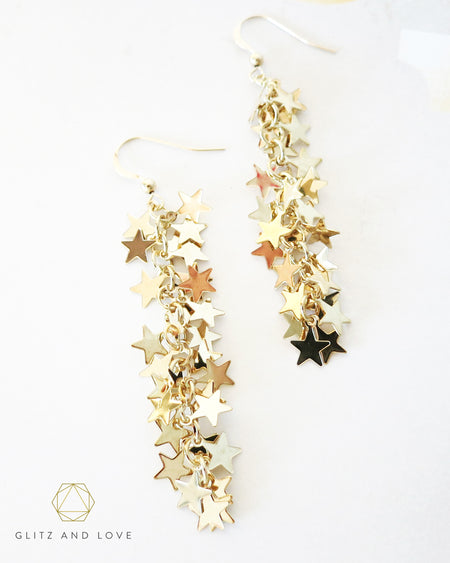 Thousand Stars Earrings | Whimsical Magical Fairytale Chic Jewelry