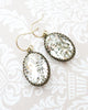 Clear Oval Crystal Earrings