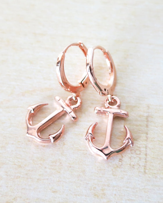 Anchor Earrings | Beach Nautical Ocean Sea Marine Gift | BFF Birthday