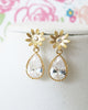 Gold Daisy Earrings