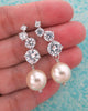 Silver Bubble Earrings with Pearls