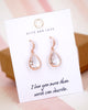 Rose Gold Clear Teardrop Earrings and Necklace
