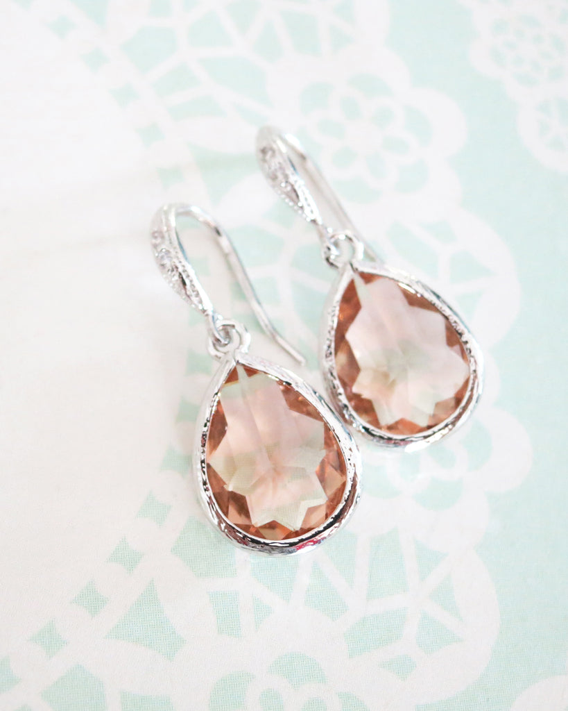 Champagne Teardrop Jewelry Set