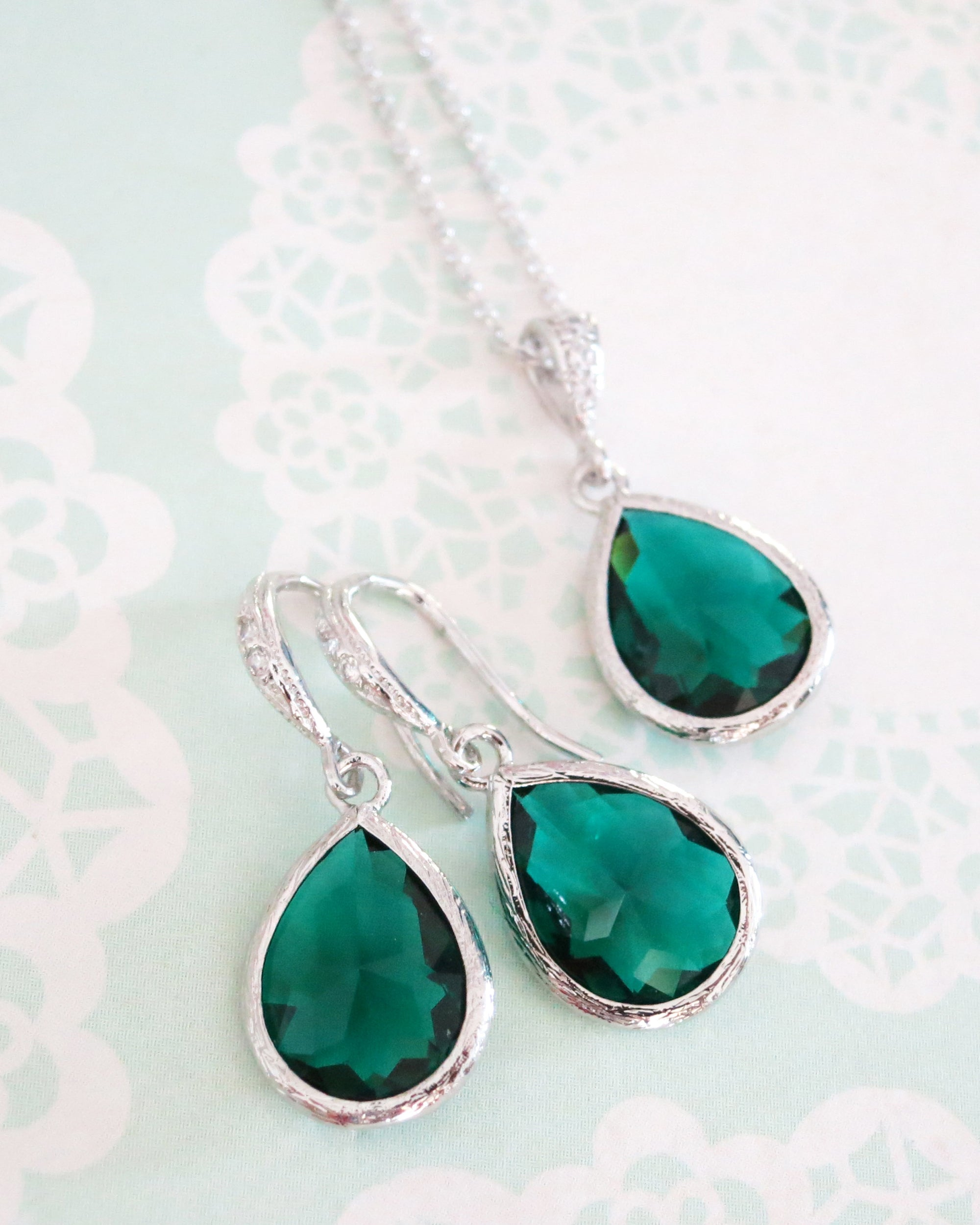 Emerald Earrings & Necklace | Special Occasion & Everyday Jewelry