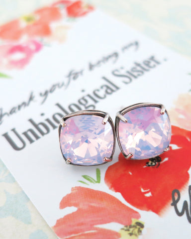Rose Water Opal Crystal Ear Studs