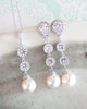 Simple Pearl Long Earrings
