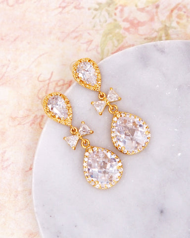Gold Luxe Cubic Zirconia Earrings