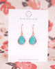 Mint Opal Teardrop Earrings in Rose Gold