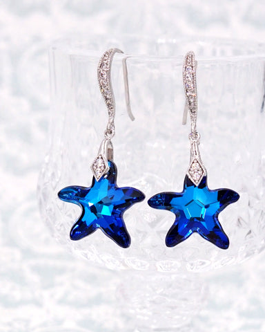 Bermuda Blue Starfish Earrings