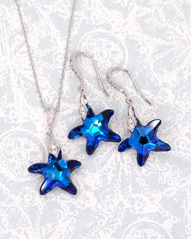 Bermuda Blue Starfish Jewelry Set