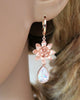 Rose Gold Lotus Flower Earrings