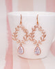Rose Gold Laurel Wreath Earrings