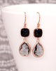 Jet Black & Grey Rose Gold Jewelry Set