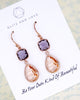 Champagne Amethyst Rose Gold Jewelry Set