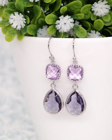Amethyst Purple Rose Gold Jewelry Set