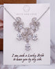 Silver Floral CZ Jewelry Set