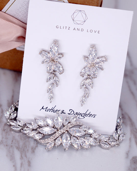 Silver Marquise CZ Earrings