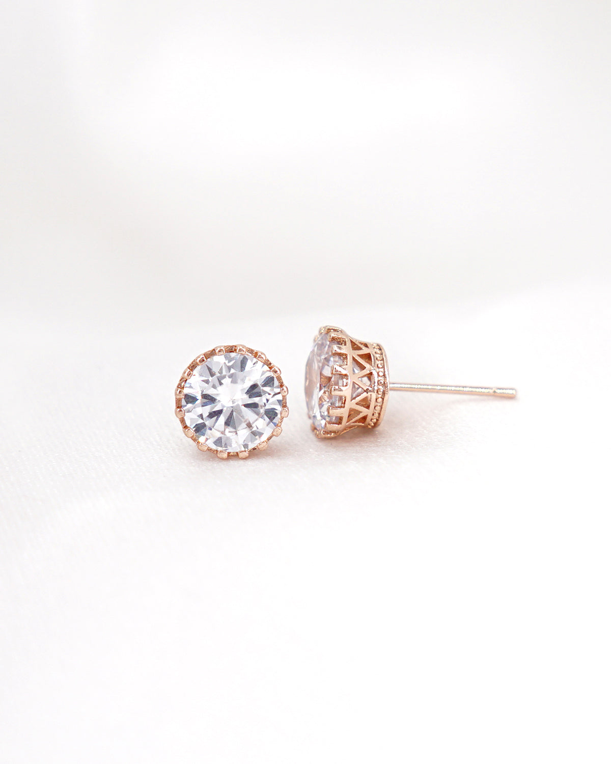 Rose Gold Stud Earrings | Everyday Jewelry | Bridesmaids Jewelry Gift