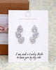 CZ Teardrop Earrings