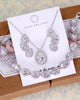 CZ Teardrop Jewelry Set