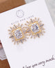 Gold Luxe Emerald Shaped CZ Ear Studs