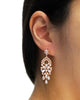 Rose Gold CZ Chandelier Earrings