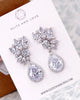 Silver CZ Clusters Jewelry Set