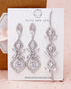 Silver Art Deco Chandelier Earrings & Bracelet