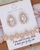 Gold CZ Teardrop Earrings and Bracelet