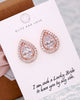 Rose Gold CZ Teardrop Earrings