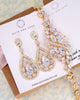 Gold CZ Chandelier Jewelry Set
