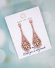 Rose Gold Vintage Style Drop Earrings