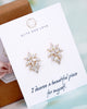 Yellow Gold Cubic Zirconia Marquise Ear Studs