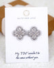 Silver Art Deco Ear Studs