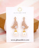 Gold Butterfly Wings Earrings