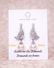 Silver Butterfly Wings Earrings