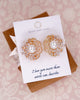 Gold Art Deco Floral Ear Studs