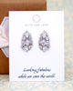 Pear Shape Cluster Stud Earrings