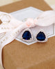 Triangle Blue CZ Jewelry Set