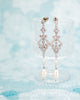 Chandelier earrings with pearls