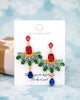 Colorful Fan Chandelier Earrings