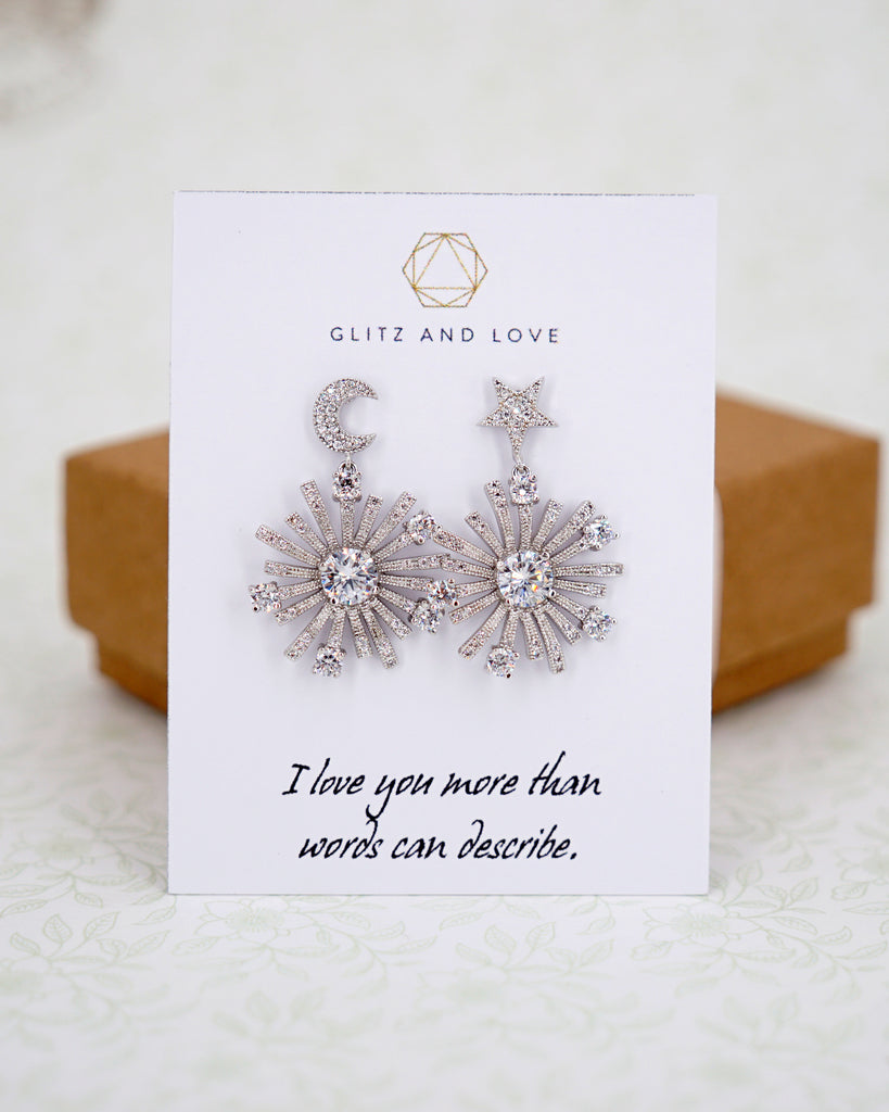 Sun, Moon & Star Earrings