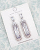Silver Baguette Cubic Zirconia Earrings