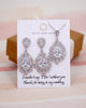 Silver Teardrop Luxe Jewelry Set