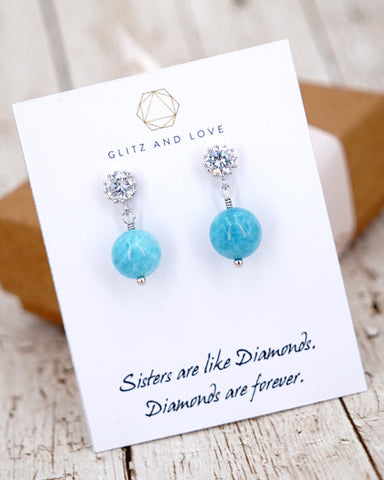 Aquamarine Sparkle Earrings