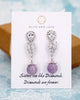 Amethyst Earrings - Teardrop