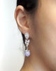 Rose Quartz Earrings - Teardrop