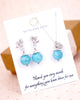 Aquamarine Jewelry Set - Ribbon