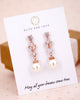 Rose Gold Cubic Zirconia Earrings with Pearls