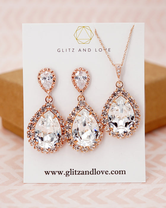 Luxe Crystal Teardrop Earrings | Bridal Jewelry | Wedding Exquisite